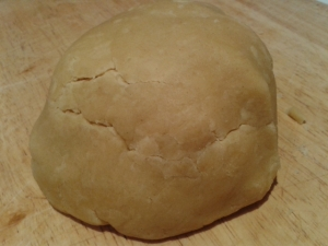 pumpkin sage and whitmore sheep's cheese tart, making pastry