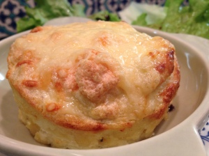 Twice Baked Cheddar Cheese Soufflés Barber's 1833 Vintage Reserve Cheddar