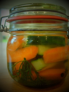 lacto-fermented vegetables with whey