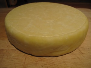 home-made cheddar cheese