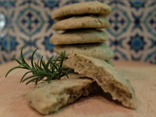 stilton walnut rosemary shortbread
