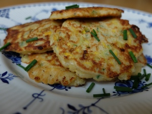 Suffolk Gold and Courgette Fritters